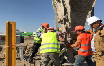 The first foundation for LEROY MERLIN has been poured (Almaty)